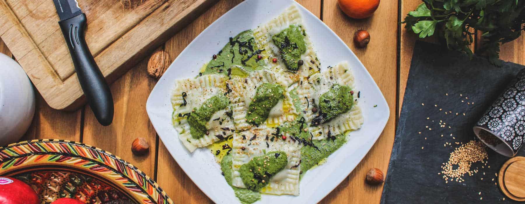 recette raviolis vegan epinards